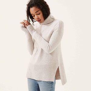 LOFT Lou & Grey Turtleneck Sweater White Large